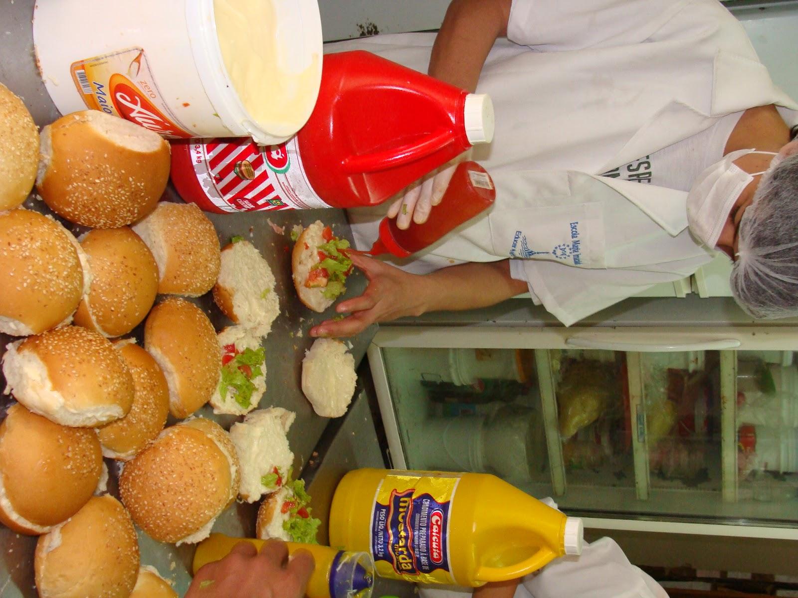 #BE120D Calábria meu futuro: Bateria sobre elaboração de hambúrguer 1600x1200 px Projeto Cozinha Confeitaria #2489 imagens