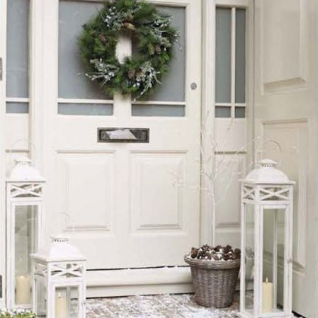 White Christmas Tree Modern Decorating Wreath Table Fireplace Decorations Frog Hill Designs Blog