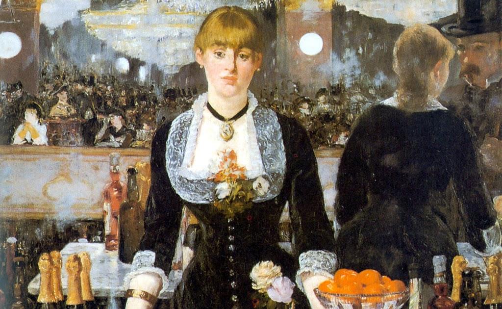 A Bar At The Folies Bergere Manet Gabinete de Histó...