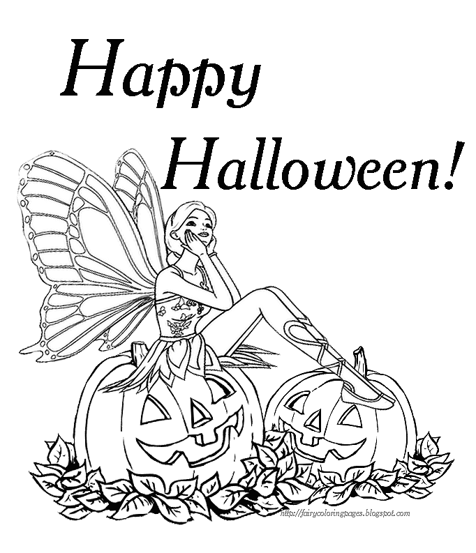 free halloween party coloring pages - photo#14