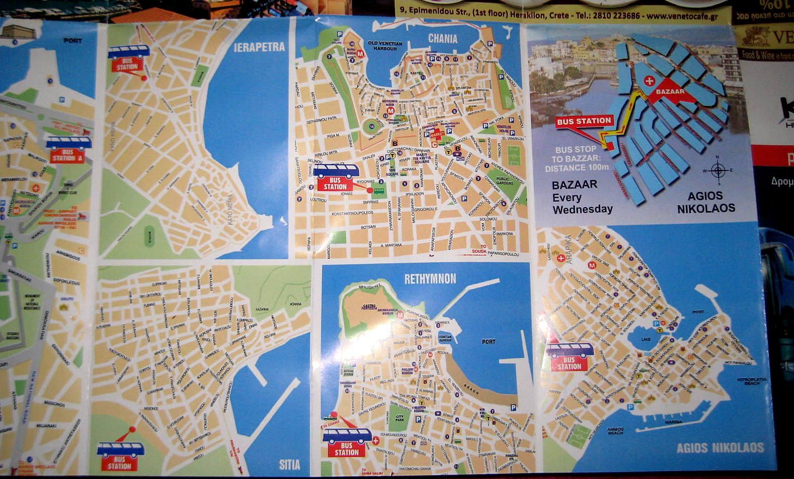 Mape gradova na Kritu