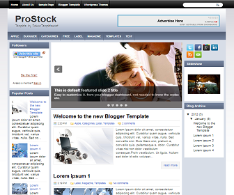 ProStock+Blogger+Template