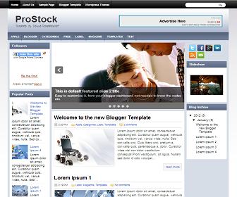 ProStock+Blogger+Template