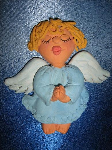 Поделка ангел из солёного теста 32