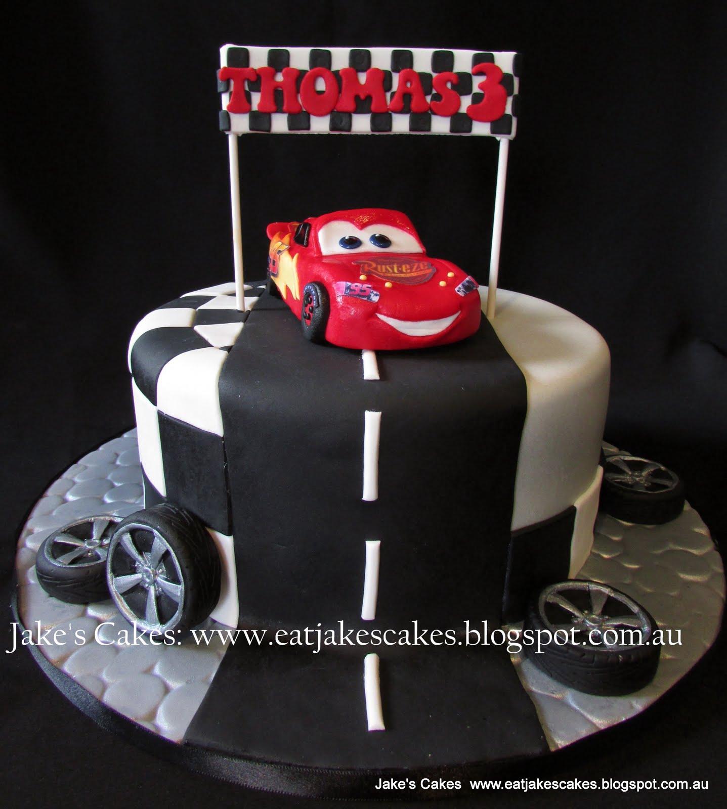 Jakes Cakes Lightning McQueen Cake