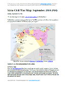 Detailed map of territorial control in Syria's Civil War (Free Syrian Army and Nusra Front rebels, Kurdish groups, ISIS/ISIL/Islamic State and others), updated to October 2014 for siege of Kobani (Ayn al-Arab) and other developments.