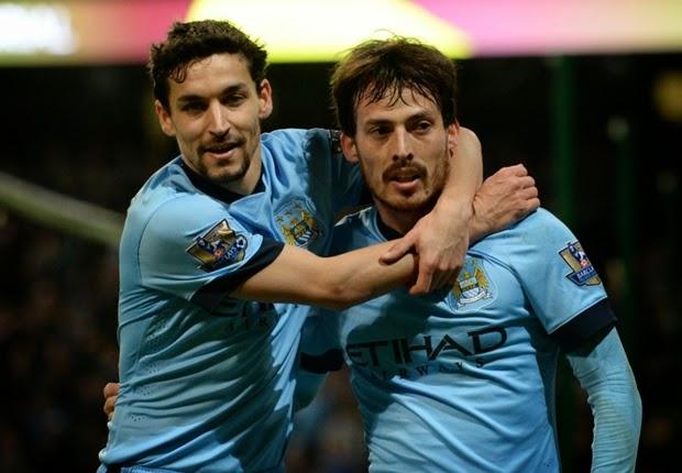 Manchester City Hajar 2 Gol Leicester City