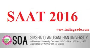 SAAT 2016 Application Form