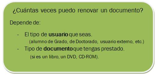 ¿Cuántas veces puedo renovar un documento?
