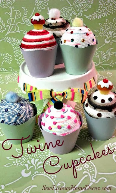 twine cupcakes