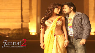 Jannat 2 Hot Esha Gupta in Yellow Sari Wallpaper