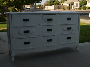 Shabby White Dresser  *SOLD*