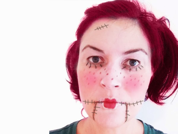 Maquillaje fácil Halloween muñeca