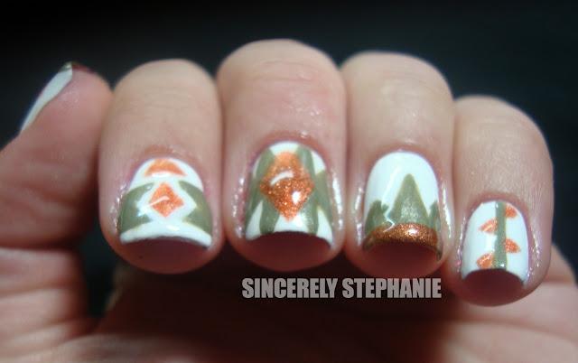 army pattern nail art