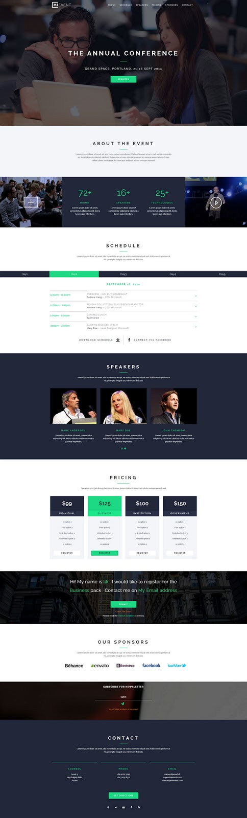 Responsive Event Website Theme