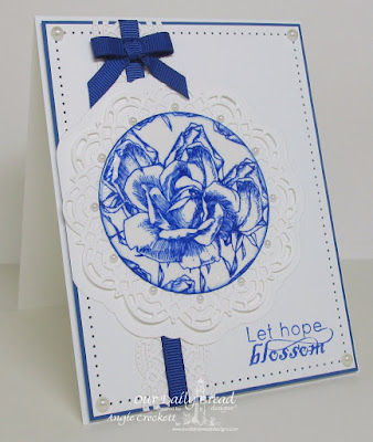 ODBD Blossom, ODBD Custom Doily Dies, ODBD Custom Beautiful Borders Dies, Card Designer Angie Crockett