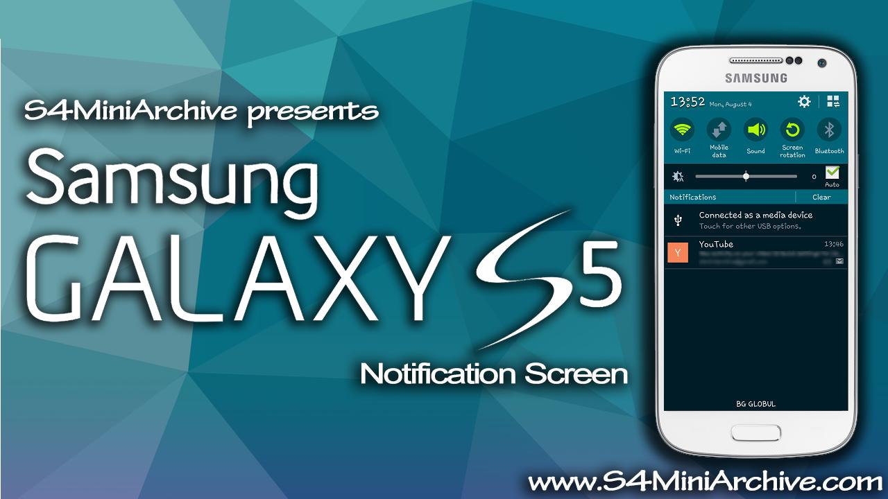 s4 mini s5 notification screen