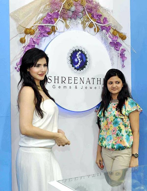 Actress Zarine Khan at International Jewellery Exhibition 2011