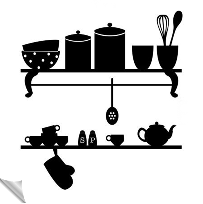 Adesivo Cozinha Estante