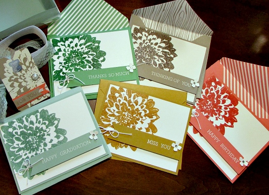 Stampin' Up! Definitely Dahlia Set of Greeting Cards photo image