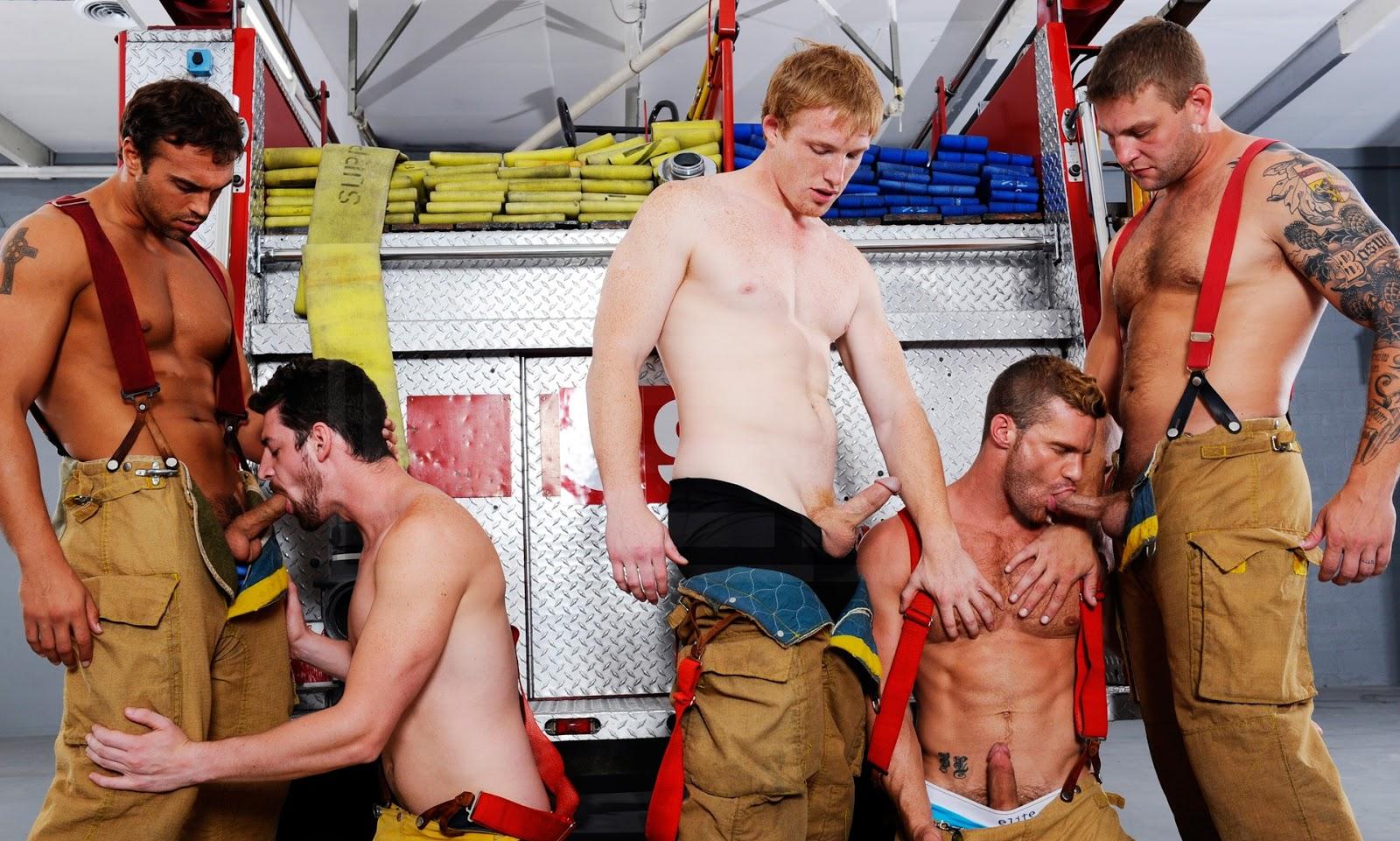 Firefighter Fireman Gay Porn