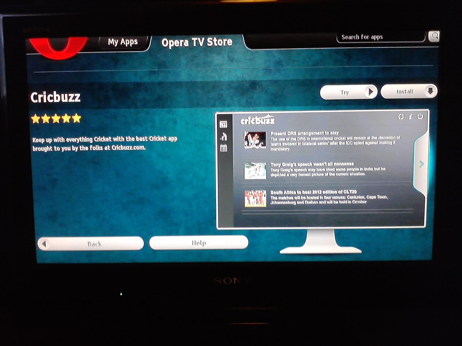 bravia internet video smart tv from sony opera tv store