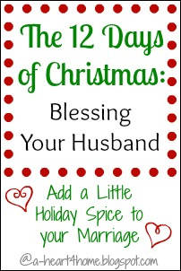 The 12 Days of Christmas: Blessing Your Husband by Adding a Little Holiday Spice to Your Marriage @ AllOurDays.com