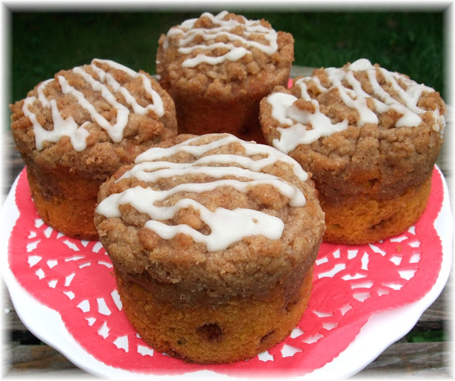 Rosie's Country Baking: Pumpkin Streusel Coffee Cake Muffins