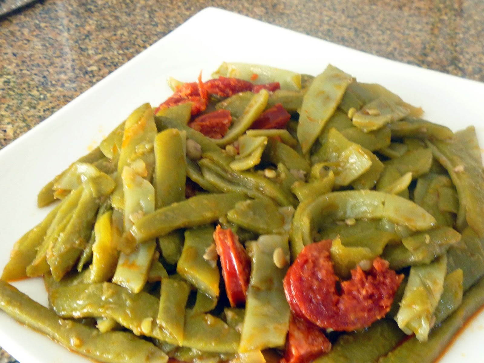 Savoring the Spice: Spanish Green Beans with Chorizo