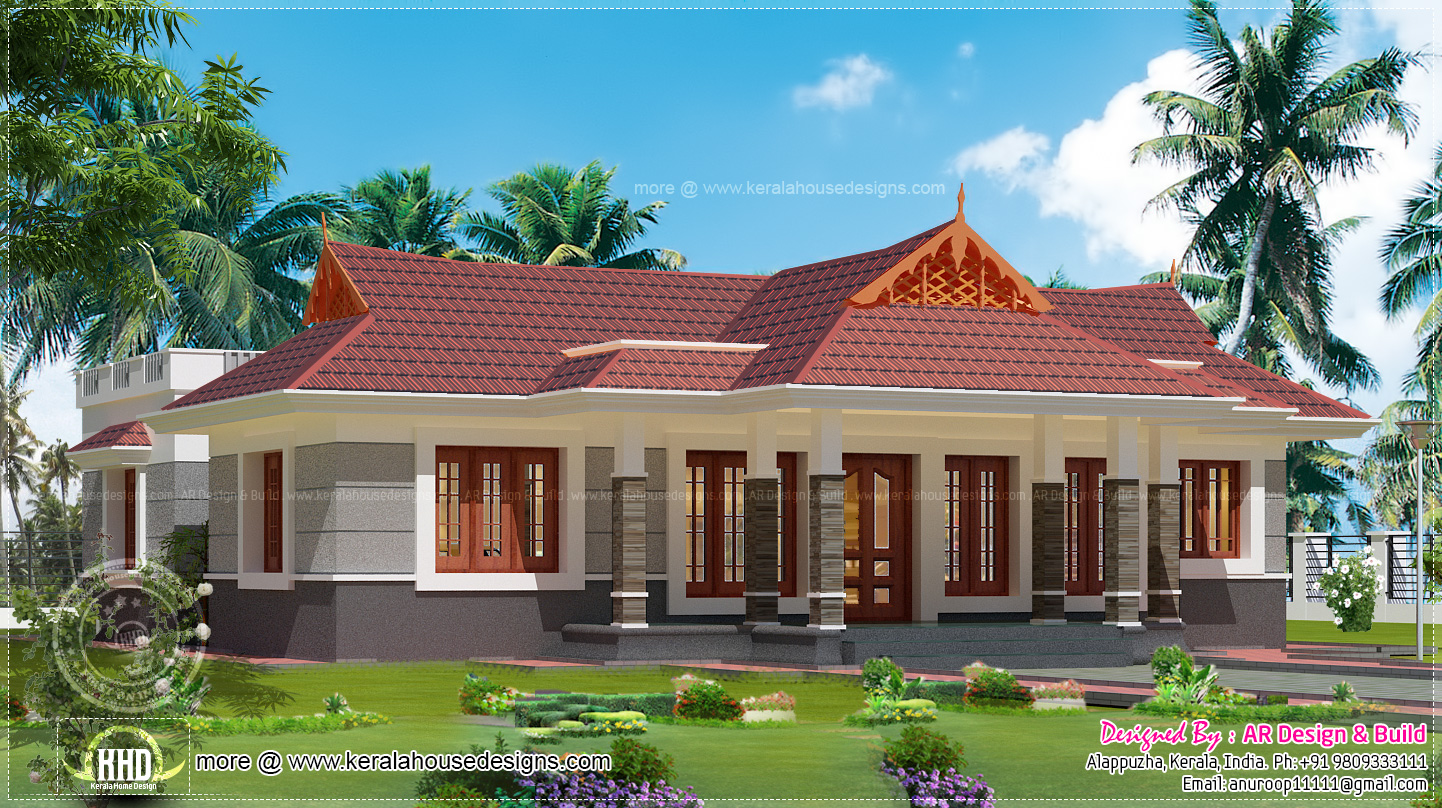 Nalukettu house in 1600 square feet house design plans for Modern house plans for 1600 sq ft