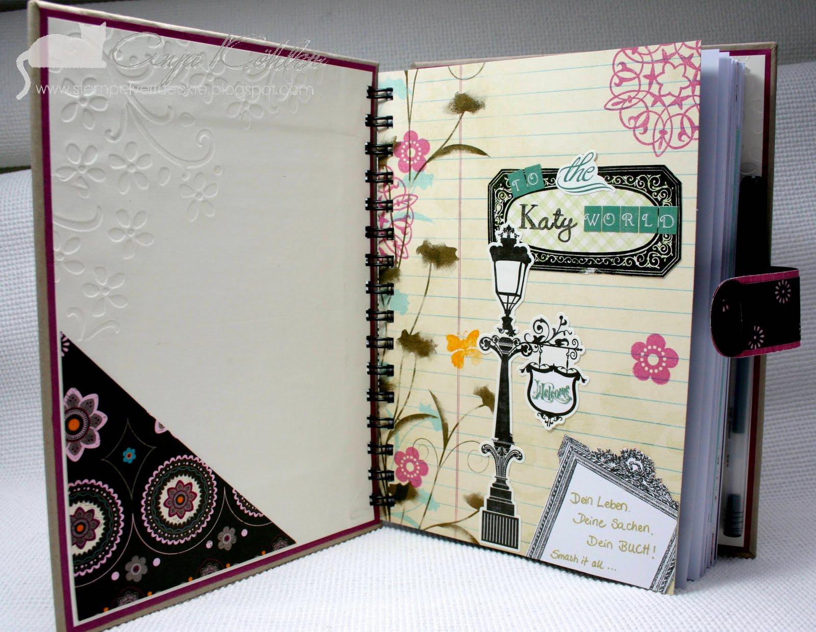 bastelblog von anja katy ein smash book. Black Bedroom Furniture Sets. Home Design Ideas