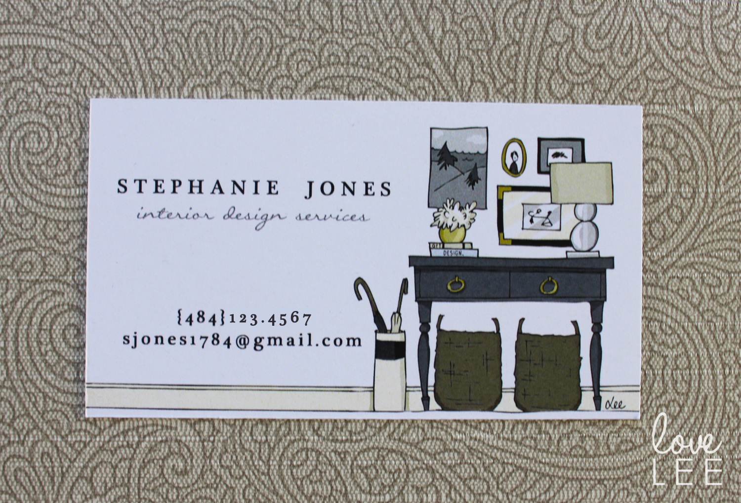 December 2013 lee owens design for Interior designers business cards