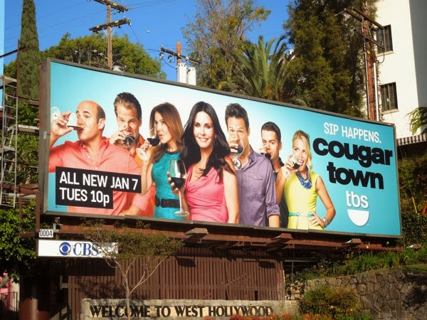 Cougar Town season 5 Sip Happens billboard