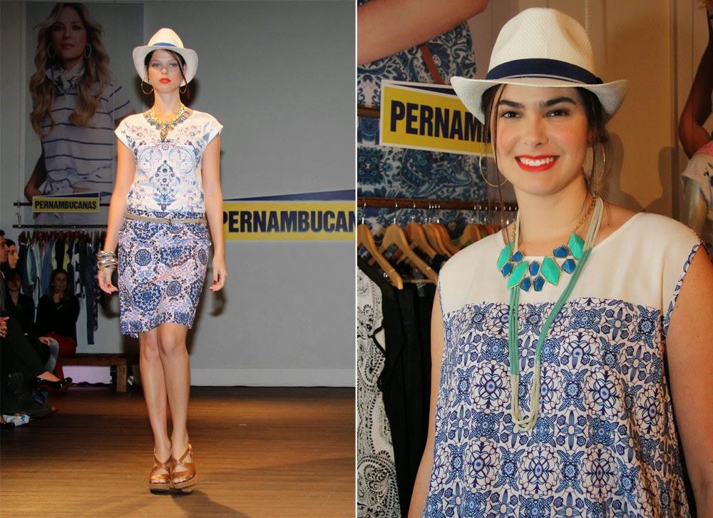 Estampas de azulejos portugueses na moda - reprodução: Chic Glória Kalil
