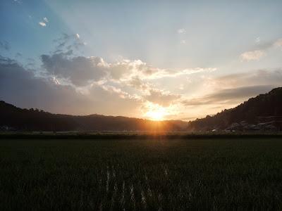 中釜戸の夕暮れ 2013初夏