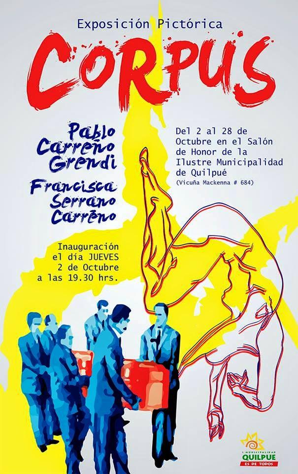 """Afiche Exposición """"CORPUS"""""""