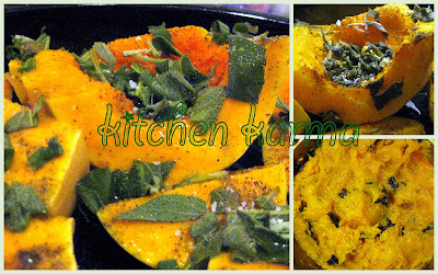 how to cut butternut squash into wedges
