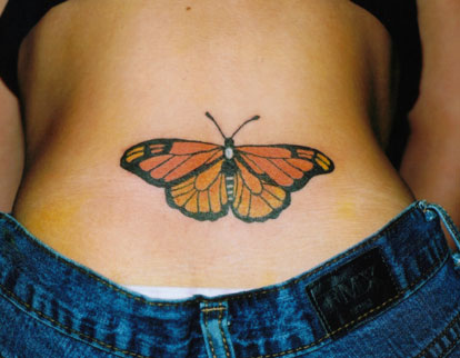 butterfly foot tattoos. pictures dresses foot tattoos
