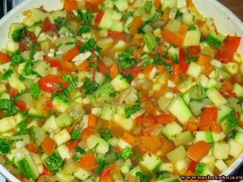 Тушеные овощи с рисом