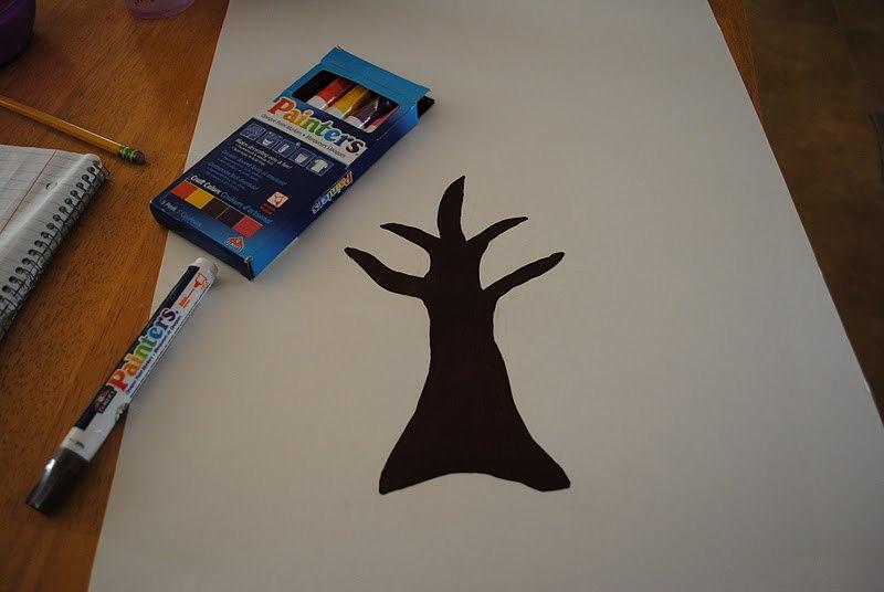 Родословное дерево на ватмане