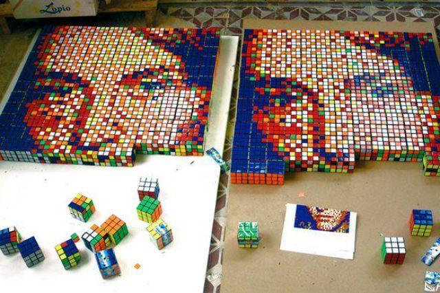 Criando imagem com cubos mágicos
