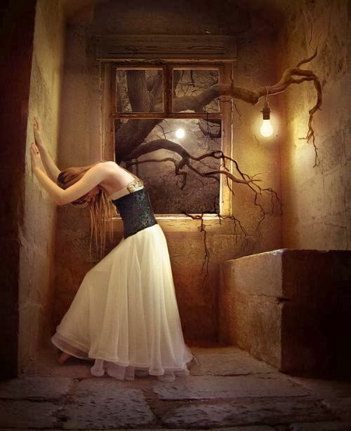 Elena Dudina deviantart art photomanipulation photoshop fantasy surreal dark women beautiful The cell