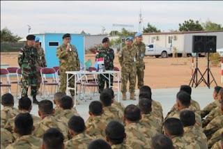 Terima Kunjungan Penmil PTRI PBB dan Tim Verifikasi dari Mabes TNI