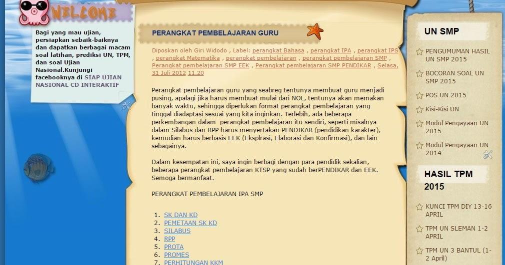 Perangkat Pembelajaran Guru Smp Mts Giri Widodo