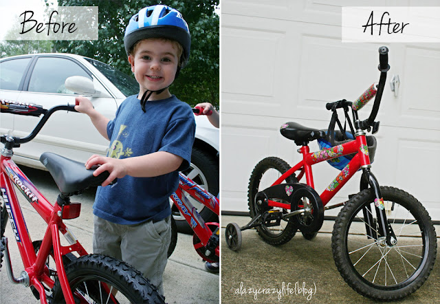 A Lazy Crazy Life: Bike makeover