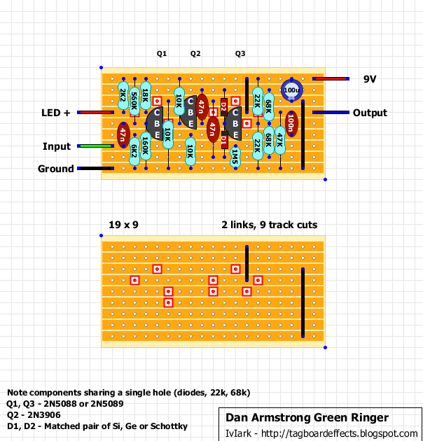 guitar fx layouts dan armstrong green ringer
