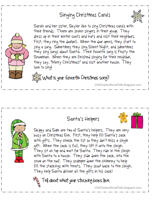 Loaded Paragraphs for Winter and Christmas