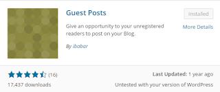 Install plugin guest posts tersebut, lalu aktifkan