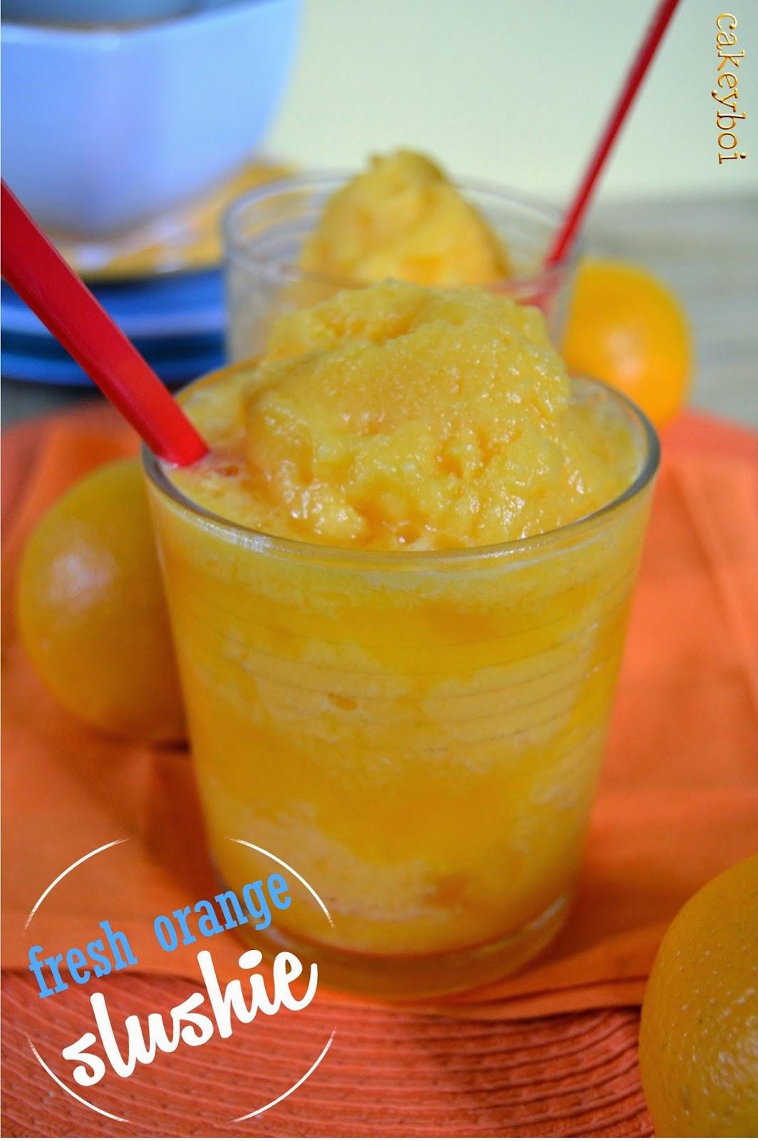 Fresh Orange Slushie