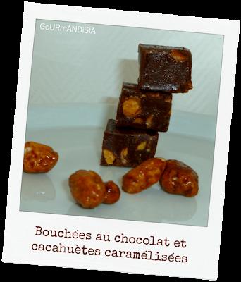 image Bouchées au chocolat et cacahuètes caramélisées